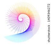 Abstract Spiral Rainbow Design...