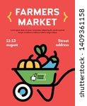 vector farmers market poster... | Shutterstock .eps vector #1409361158