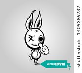 crazy evil rabbit. cute evil... | Shutterstock .eps vector #1409386232