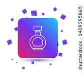 trendy square with particles... | Shutterstock .eps vector #1409395865