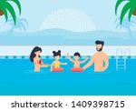 happy family having rest in... | Shutterstock .eps vector #1409398715