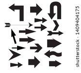 set arrow icons. arrow icon.... | Shutterstock .eps vector #1409404175