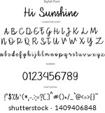 stylish font  hand drawn vector ... | Shutterstock .eps vector #1409406848