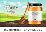 honey vector realistic mock up. ... | Shutterstock .eps vector #1409427392