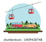 travel and vacations cartoons... | Shutterstock .eps vector #1409428748