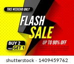 flash sale banner  up to 90 ... | Shutterstock .eps vector #1409459762