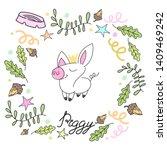 vector illustration of little... | Shutterstock .eps vector #1409469242