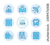 travel vector line icons set.... | Shutterstock .eps vector #1409476508