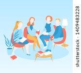 book club meeting  vector...   Shutterstock .eps vector #1409483228