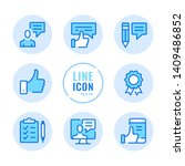 feedback vector line icons set. ... | Shutterstock .eps vector #1409486852