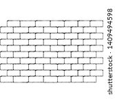 brick wall background. vector... | Shutterstock .eps vector #1409494598