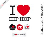 I Love Hip Hop  Font Type With...