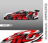 car decal wrap design vector.... | Shutterstock .eps vector #1409512922