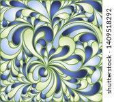 silk texture fluid shapes ...   Shutterstock .eps vector #1409518292