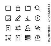 ui and ux big bold line icons...