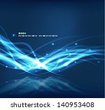 abstract glowing lines | Shutterstock .eps vector #140953408
