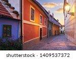 Golden Lane In Prague In The...