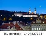 Prague At Night  Waxing Moon...