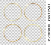 set of four gold shiny round... | Shutterstock .eps vector #1409549255