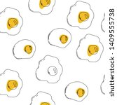 fried eggs  scrambled eggs.... | Shutterstock .eps vector #1409555738