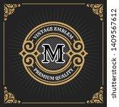 vintage luxury banner template... | Shutterstock .eps vector #1409567612