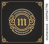 vintage luxury banner template... | Shutterstock .eps vector #1409567798