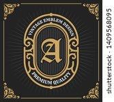 vintage luxury banner template... | Shutterstock .eps vector #1409568095