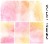 Watercolor Background. Set Of...