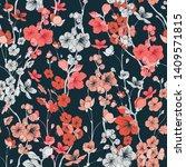 seamless sakura vector textile...   Shutterstock .eps vector #1409571815