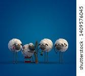 3d illustration four cute... | Shutterstock . vector #1409576045