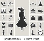 woman fashion and beauty vector ... | Shutterstock .eps vector #140957905