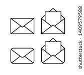 mail linear icons  open and... | Shutterstock .eps vector #1409579588