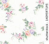 seamless pattern designed with... | Shutterstock . vector #1409597195