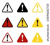 danger sign  warning sign ... | Shutterstock .eps vector #1409606735