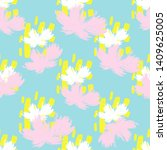 summer abstract flowers pattern ... | Shutterstock .eps vector #1409625005