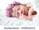portrait of  sleeping newborn... | Shutterstock . vector #140962612