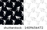 set of seamless patterns with... | Shutterstock .eps vector #1409656472