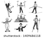 retro circus performance set... | Shutterstock .eps vector #1409686118