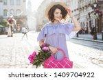outdoor summer portrait of...   Shutterstock . vector #1409704922
