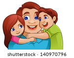 vector illustration of father... | Shutterstock .eps vector #140970796
