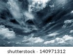 Background Of Dark Clouds...