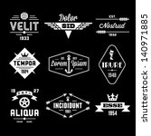 vintage labels with globe ... | Shutterstock .eps vector #140971885