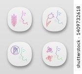 allergies app icons set. hay...