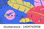 hello summer poster with... | Shutterstock .eps vector #1409743958