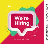 we are hiring poster or banner...   Shutterstock .eps vector #1409744645