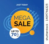 mega sale promotion banner... | Shutterstock .eps vector #1409746325