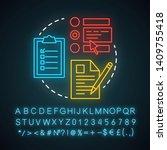 choose procedure neon light... | Shutterstock .eps vector #1409755418