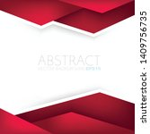 red triangle vector background... | Shutterstock .eps vector #1409756735