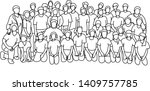 students in school class with...   Shutterstock .eps vector #1409757785