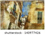 Italian Old Town Streets  Lecce